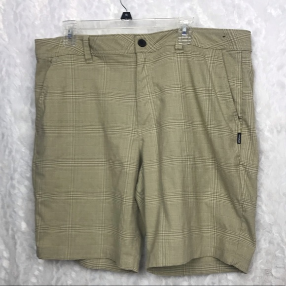 O'Neill Other - O'Neill men's khaki checked shorts standard fit 38